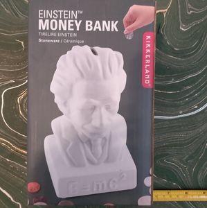 Kikkerland Einstein Ceramic Piggy Bank